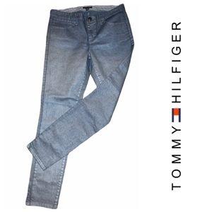 NWOT TOMMY HILFIGER Silver Sheen Jeans
